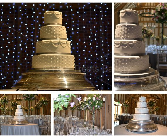 Famous 4 Tier Grey Delight Wedding Cake
