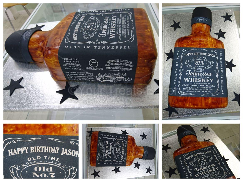 Jack Daniels Effect Cake