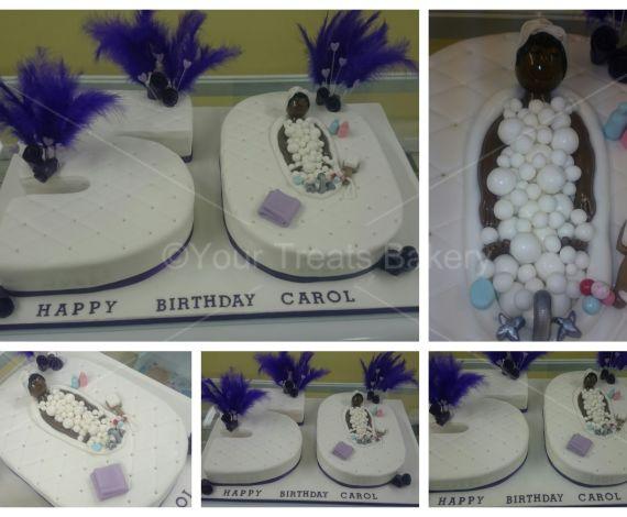 Number 50 Diva Bath Cake