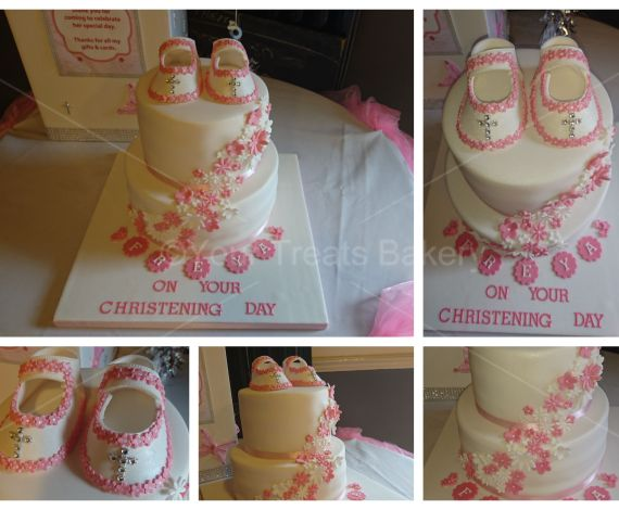 Pink White Bootie Cake