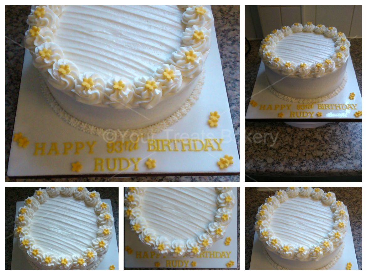 White Buttercream Delight Cake