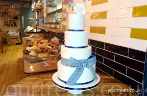 Wedding Cake made at Your Treats Bakery - Find out more at www.yourtreats.co.uk