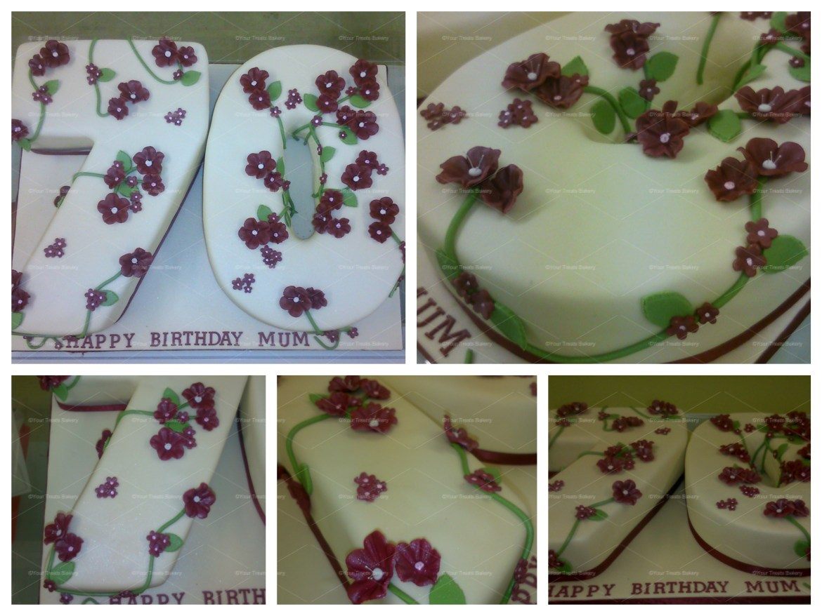 70 Vines and Flowers Cake