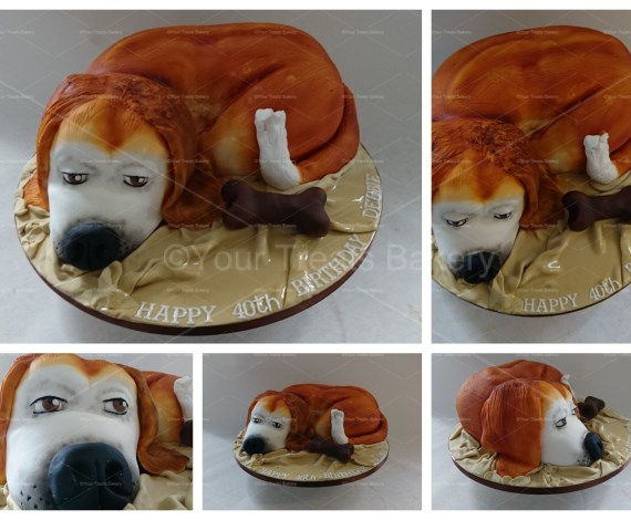 3D Sculpted Doggy Cake