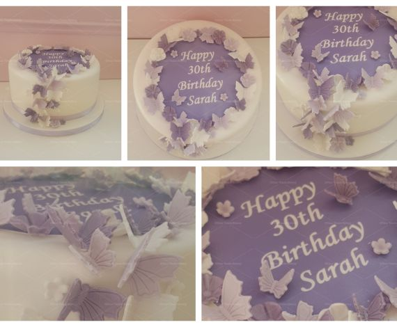 Butterfly Message Cake