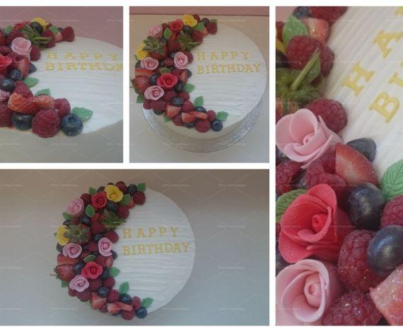 Fruit & Floral Cake