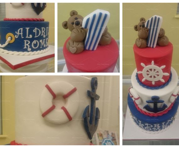 Nautical Bear Cake