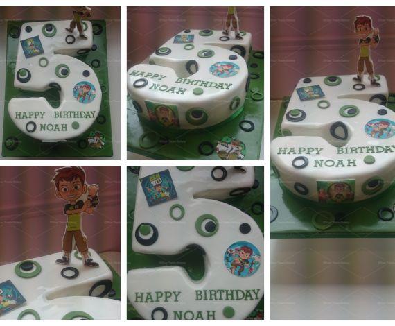 Number 5 Ben 10 Cake
