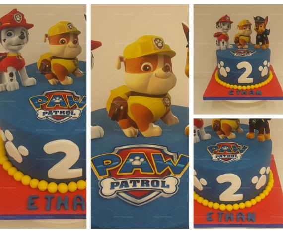 Paw Patrol Print Cake