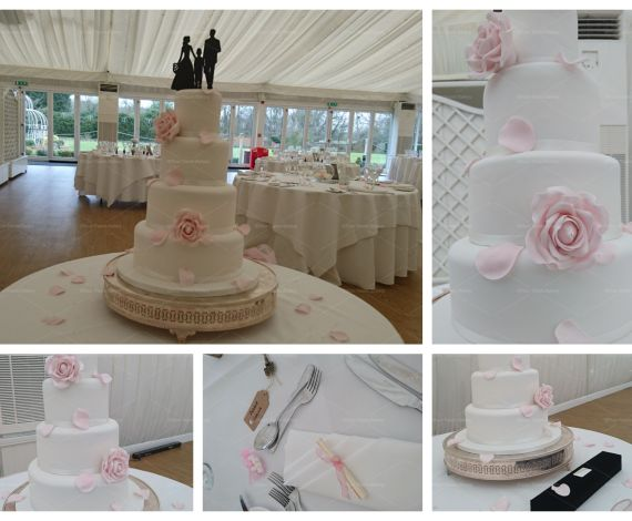 Pink Delicate Wedding Cake