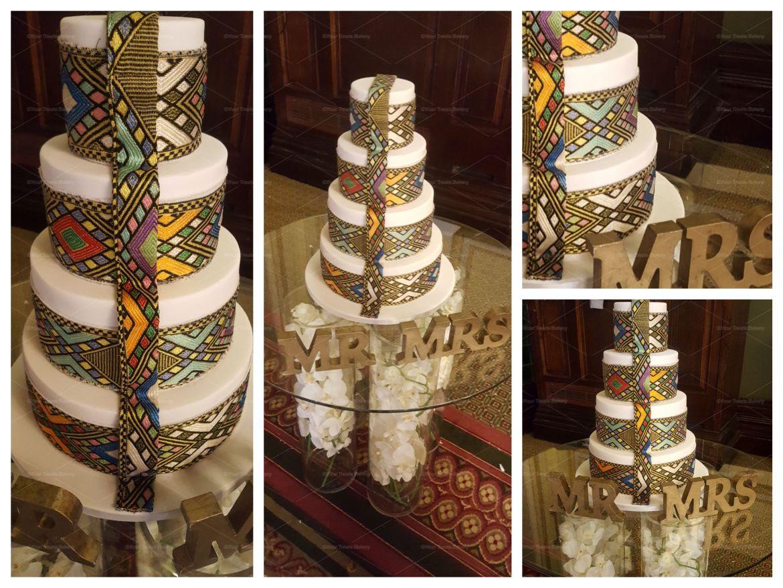 Special Cloth Wedding Cake