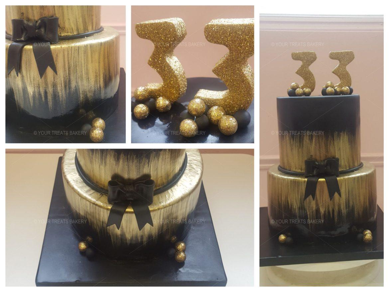 Black Gold Smear Cake