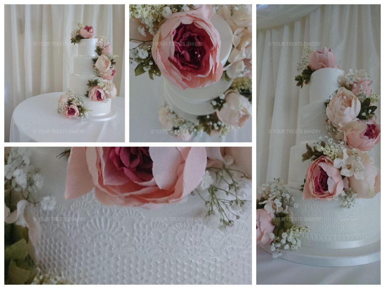 Flower Fluster Wedding Cake