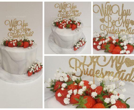 Grey Marble Flower Cake