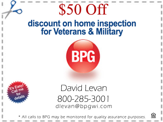 David Levan coupon for Veteran and Military Discount on Home Inspection - Bill Salvatore, Realty Excellence East Valley - Arizona Elite Properties
