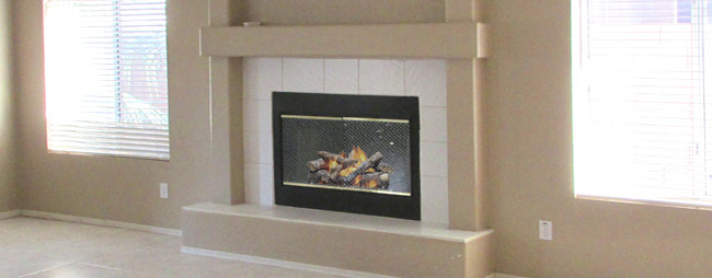 fireplace with fire, Fireplace Safety, Fireplace Maintenance, Home Repair - Bill Salvatore, Realty Excellence East Valley - 602-999-0952