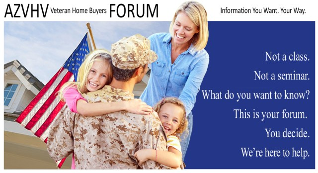 Military Family in front of home with fla. Veteran Home Buyers Forum, home buyer summit, seminar, class, workshopg