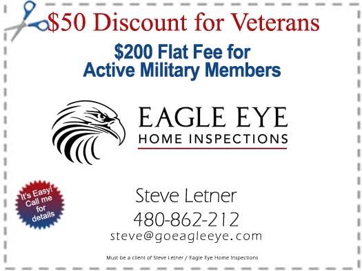 Discount Coupon for Home Inspection - Steve Letner