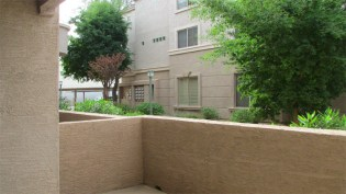 Ground floor patio enclosed by waist-high wall - 5303 N 7th St, Phoenix AZ - Private patio - Bill Salvatore, Arizona Elite Properties 602-999-0952 - Arizona Real Estate