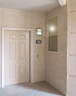 Condo entry under cover - 5303 N 7th St, Phoenix AZ - covered, protected entry door - Bill Salvatore, Arizona Elite Properties 602-999-0952 - Arizona Real Estate