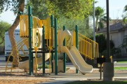 Gym equipment, swings and slides in community park - 353 E Jasper Dr, Chandler Arizona - Neighborhood playground - Bill Salvatore, Arizona Elite Properties 602-999-0952 - Arizona Real Estate