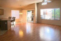 Large greatroom with wood laminate flooring and wall of windows - 353 E Jasper Dr, Chandler Arizona - spacious greatroom - Bill Salvatore, Arizona Elite Properties 602-999-0952 - Arizona Real Estate