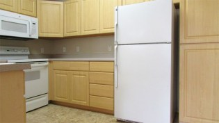 Light kitchen cabinets. Refrigerator is included - 5303 N 7th St, Phoenix AZ - fully applianced kitchen - Bill Salvatore, Arizona Elite Properties 602-999-0952 - Arizona Real Estate