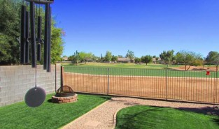 Back yard with view fence and view of golf course - 1151 S Sandstone Street, Gilbert Arizona - Abuts Golf Course - Bill Salvatore, Arizona Elite Properties 602-999-0952 - Arizona Real Estate