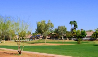 Green and treed view of Western Skies Golf Course - 1151 S Sandstone Street, Gilbert Arizona - Golf Course Lot and View - Bill Salvatore, Arizona Elite Properties 602-999-0952 - Arizona Real Estate