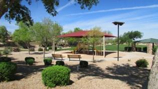 walking path, seating and playground in neigborhood park - 1795 W Gold Mine Way, Queen Creek, Arizona 85142 - Community Playground and walkways - Bill Salvatore, Arizona Elite Properties 602-999-0952 - Arizona Real Estate