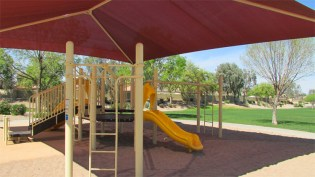 sun-shaded play area for younger children with small slides and ladders, raised walkways - 1795 W Gold Mine Way, Queen Creek, Arizona 85142 - Neighborhood play areas and tot lots - Bill Salvatore, Arizona Elite Properties 602-999-0952 - Arizona Real Estate