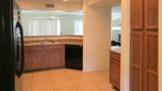 view from breakfast nook, neutral color tile floor in kitchen - 1795 W Gold Mine Way, Queen Creek, Arizona 85142 - Neutral tile flooring - Bill Salvatore, Arizona Elite Properties 602-999-0952 - Arizona Real Estate
