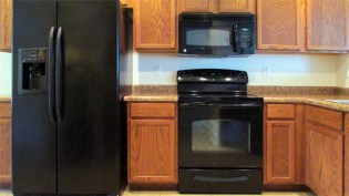 Black appliances, refrigerator, stove, microwave and dishwasher - 1795 W Gold Mine Way, Queen Creek, Arizona 85142 - Black appliances - Bill Salvatore, Arizona Elite Properties 602-999-0952 - Arizona Real Estate