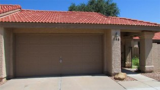 Double door to 2-car garage with red tile roof - 945 N Pasadena, Mesa AZ - Park Centre Patio Homes - Bill Salvatore, Arizona Elite Properties 602-999-0952 - Arizona Real Estate