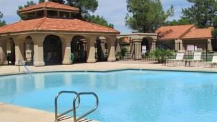 Large community swimming pool with ramada behind - 945 N Pasadena, Mesa AZ - Park Centre Patio Homes - Bill Salvatore, Arizona Elite Properties 602-999-0952 - Arizona Real Estate
