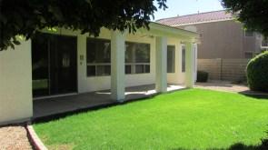grassy back yard and covered back patio - Landscaped back yard - 1162 S Sandstone St, Gilbert AZ - Bill Salvatore, Arizona Elite Properties 602-999-0952 - Arizona Real Estate