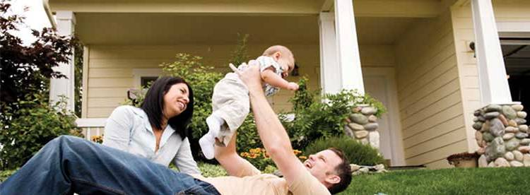 Family playing with Baby in front yard of home - Happy-Family,-Home-Buyers, Home Sellers, House and Family - Bill Salvatore, Arizona Elite Properties - Arizona Real Estate