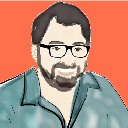 Illustration of Austin Kleon by Cathy Hutchison