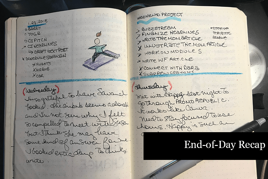 How to Journal - End of Day Recap