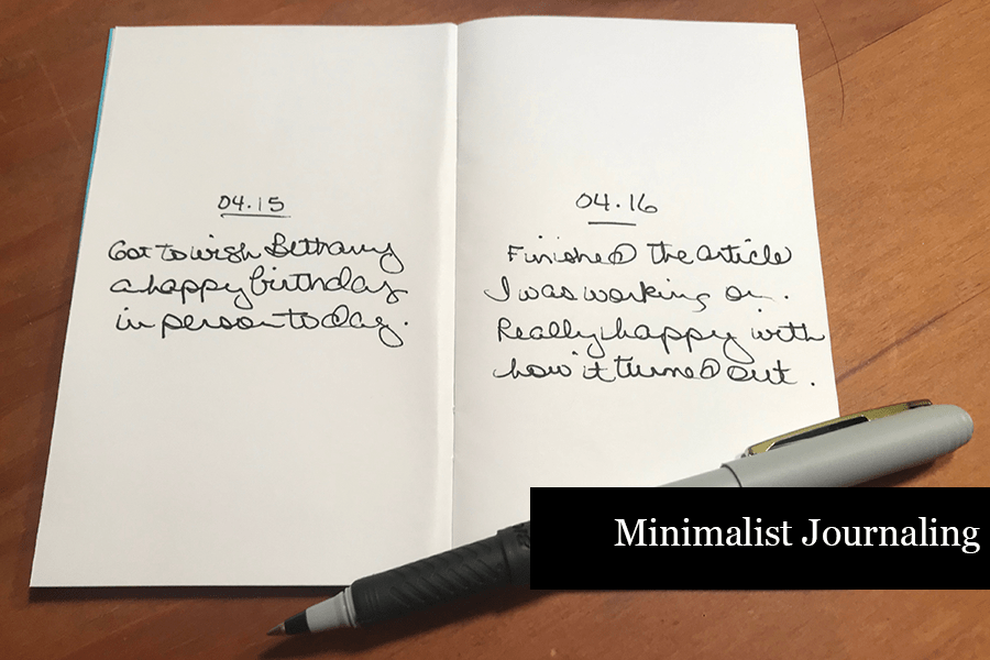 How to Journal - Minimalist Journaling