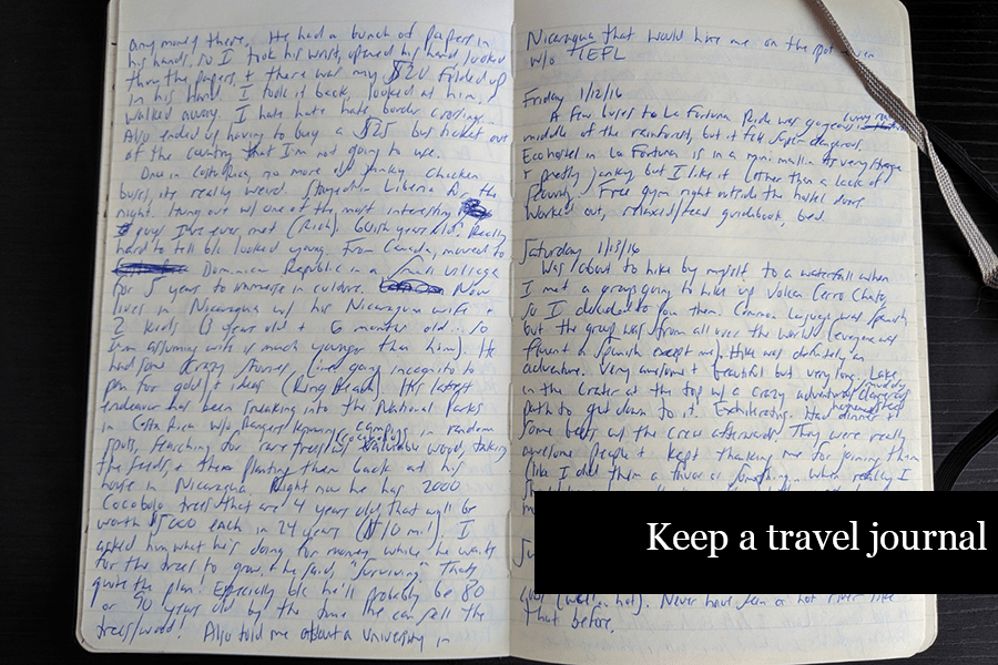 How to Journal - Keep a Travel Journal