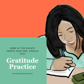Gratitude practices — like journaling things you are thankful for — have been proven to increase happiness and life satisfaction. But can it actually make you rich?