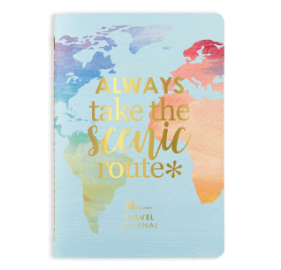 Track up to four weeks of stylish travel with 28 daily spreads to log activities, meals, memories, spending and more! Add detail with stunning gold stickers, included in each Travel Journal