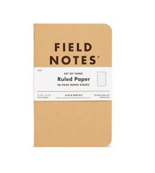 Field Notes Original Kraft Memo book is one of the most uncomplicated travel journals on the market. It's a simple, compact notebook, available with graph, ruled, or plain paper.