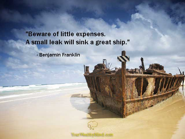 Quote-small-leaks-sin-ships-franklin