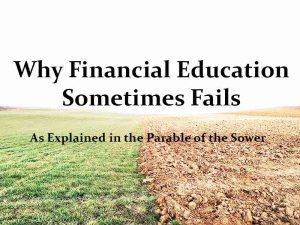 why financial education fails