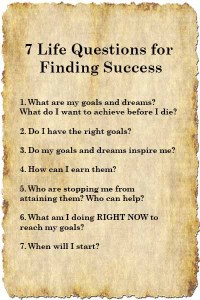 7 life questions list yourwealthymind your wealthy mind