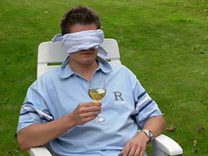 blindfold guy man person glass