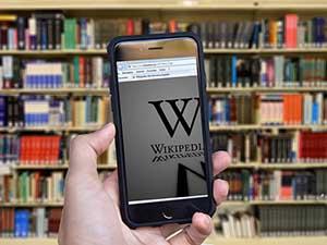 books shelf phone wikipedia
