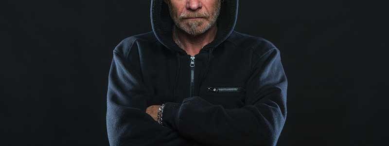 man angry hoodie